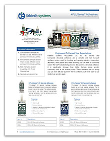 Fabtech PLUSeries Adhesives Information Sheet PDF